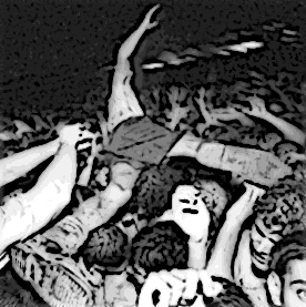 Crowd surfing (detail)